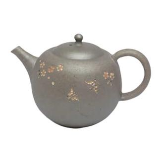 Japanese tea pot - SEIHO TSUZUKI - Butterfly & SAKURA High-fired - 270cc/ml - Sasame ceramic fine mesh - Tokoname kyusu with wooden box