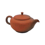 Japanese tea pot - SHUN-EN MANO - Red Hexagonal - 150cc/ml - ceramic fine mesh - Tokoname kyusu with wooden box