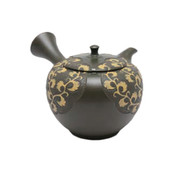 Japanese tea pot - SHUN-EN MANO - Arabesque - 220cc/ml - ceramic fine mesh - Tokoname kyusu with wooden box