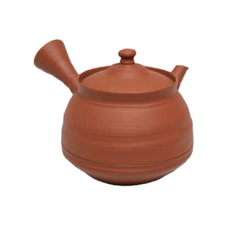 Japanese tea pot - FUGETSU MURAKOSHI - Shudei red clay - 250cc/ml - ceramic fine mesh - Tokoname kyusu with wooden box