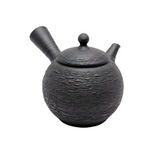 Japanese teapot- SHUZO MAEKAWA - Pine bark - 220cc/ml - ceramic fine mesh - Tokoname kyusu with wooden box