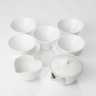 Japanese Tea Professionalfs Tea Set - houhin(kyusu), yunomi(cup), yuzamashi(cooling bowl) for Gyokuro, Sencha
