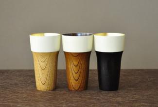 misaraku beer tumbler : Japan wooden lacquareware mugs with Gift box