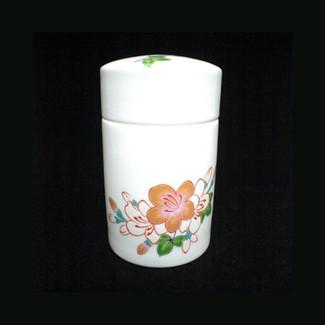 Chakouan : Imari Porcelain Tea Canister [SAKURA] from Saga Kyushu