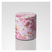 Matcha Tea Can : Chiyogami Washi Paper - 2 color (Pink,Blue) tins caddy canister