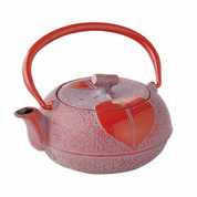 [Rare] Nanbu Tetsubin - Konoha - 0.2 Liter : Japanese Red Cast Iron Tea Pot