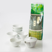 Tea Professional's Tea Set with Bancha - Pot, Cooling bowl, Cup & Ureshino Bancha