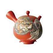 [Heritage Grade/Offer Limited] Tokoname Kyusu : Kodo Yoshikawa - Fujin Raijin-zu - Japanese Tea Pot