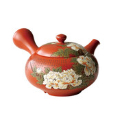 [Heritage Grade/Offer Limited] Tokoname Kyusu : Setsudo Yoshikawa- Peony - Japanese Tea Pot