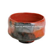 [Premium] Matcha Bowl : AKARAKU - Kyo-yaki Matcha Wan (RED) for Tea Ceremony from Kyoto