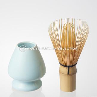 [VALUE] Chasen Set : Matcha Bamboo Whisk 80 & Whisk Stand (2 color)