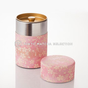 Tea Can : Chiyogami Washi Paper (L) vol.150g - 2 color - tins caddy canister
