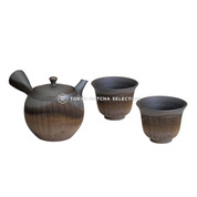 Tokoname Kyusu Set : KOFU - Pot & 2 Cups