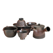 [Premium/VALUE] Tokoname Kyusu Set : Gyokko - 1 Pot, 1 Cooling Bowl, 5 Cups