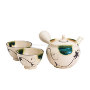 [Premium/VALUE] Tokoname Kyusu Set : JUNZO MAEKAWA - 1 Pot, 2 Cups