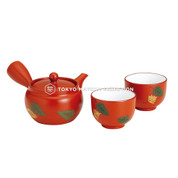 [SUPER VALUE] Tokoname Kyusu Set : TOMISEN - 1 Pot, 2 Cups