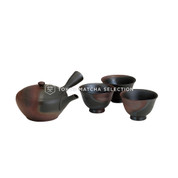 [Premium/VALUE] Tokoname Kyusu Set : GYOKKO - 1 Pot, 3 Cups