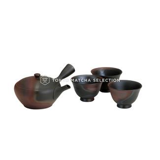 [Premium/VALUE] Tokoname Kyusu Set : GYOKKO - 1 Pot, 3 Cups