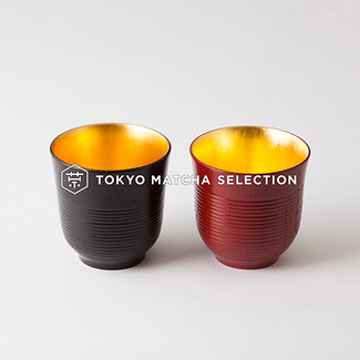 Meoto Chawan - Yunomi Tea Cup - 2 color - Inner; Gold