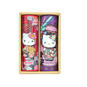 HELLO KITTY : KIMONO KITTY - Powdered Green Tea 2 Can Set w Kitty chan Box