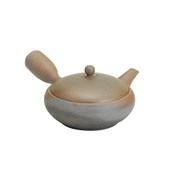 [Premium] Tokoname Pottery : HIRAMARU - Japanese Kyusu tea pot 270cc Ceramic fine mesh net