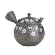 Tokoname Pottery : SAKURA (A) - Japanese Kyusu tea pot 350cc Ceramic Mesh