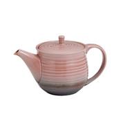 Tokoname Pottery : Pink - Japanese Tea Pot 350cc Sawayaka Fine Mesh Net