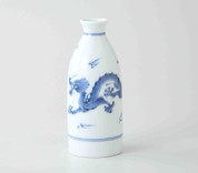 Sake Bottle & 2 Cups Set : Dragon - Japanese Hasami Porcelain