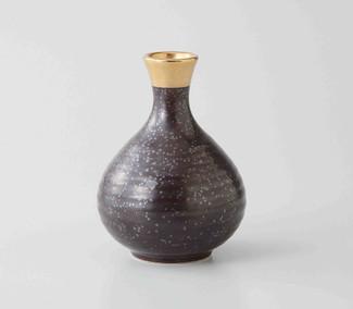 Sake Bottle & 2 Cups Set : Gold - 2 size - Japanese Hasami Porcelain