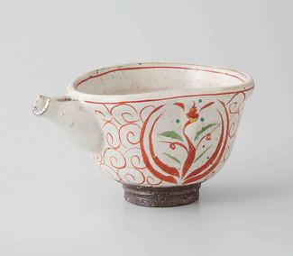 Sake Pot & 2 Cups Set : Akae Red picture - Japanese Hasami Porcelain