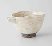 Ivory Sake Pot & 2 Cups Set : Konahiki - Japanese Hasami Porcelain