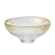 GIYAMAN - Glass Matcha Bowl : Clear Gold - Japanese Glass Matchawan Tea Ceremony