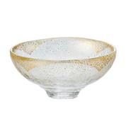 GIYAMAN - Glass Matcha Bowl : Clear Gold - Japanese Glass Matchawan Tea Ceremony
