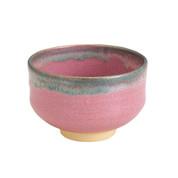 Kyoto Pottery Matcha Bowl : Pink Oribe - Mini Japanese Matchawan w Box