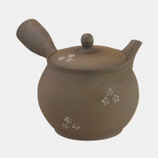 Tokoname Pottery : SEKIRYU - cherry blossom - Japanese Pottery Kyusu Tea Pot 370cc ceramic mesh net