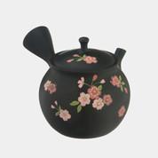 Tokoname Pottery :SYORYU - Blossoms - Japanese Pottery Kyusu Tea Pot 250cc ceramic mesh net