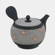 Tokoname Pottery : SYUNZYU - Blossoms - Japanese Pottery Kyusu Tea Pot 340cc ceramic mesh net