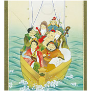 Seven Lucky Gods with Paulownia wood box