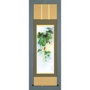 Kakejiku : Six Gourds - Hyoutan (D) - with wood box