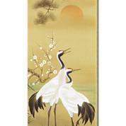 Pine, Bamboo and Plum / Sho Chiku Bai, Tsuru Kame (A) - with wood box