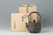 Takaoka Tetsubin - Iron Kettle Teapot : Hexagon Orizuru (Folded Paper Crane) with silver inlay