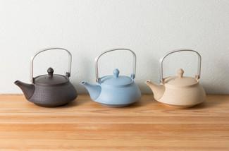 DOBIN tea kettle 270cc (3 color) w handcrafted ceramic mesh