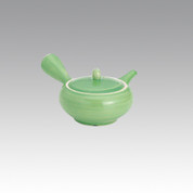 Kyusu - SOZAN (250cc/ml) yellow green - obi ami stainless steel net - Item Image