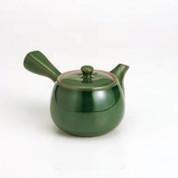 Kyusu - SOZAN (400cc/ml) dark green - kago ami stainless steel net