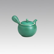 Kyusu - SOZAN (300cc/ml) Green - obi ami stainless steel net - Item Image