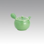 Kyusu - SOZAN (320cc/ml) Green - obi ami stainless steel net - Item Image
