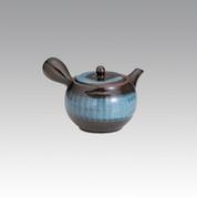 Kyusu - SOZAN (320cc/ml) Black and Blue - obi ami stainless steel net - Item Image