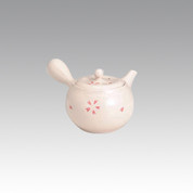 Kyusu - SOZAN (320cc/ml) Rose pink Flower - obi ami stainless steel net - Item Image