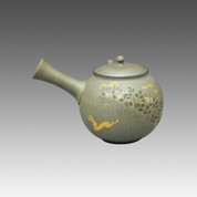 Tokoname Kyusu teapot - SEIHO - Moon & Rabbit 300cc/ml - sasame ceramic fine mesh with box - Item Image