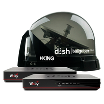 DISH Tailgater Pro Premium 2 Receiver Satellite Antenna Bundle With Wally